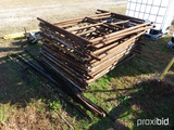LOT OF METAL SCAFFOLDING - LOCKED TOGETHER