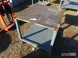 3x4 STEEL TOP WORK BENCH W/ WHEELS