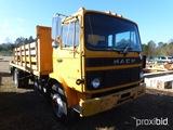 1991 MACK FLATBED TRUCK VIN#VG6M117BXMB20087 (ODOMETER SHOWS: 158,485)