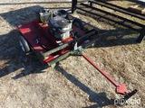 SWISHER ATV 44'' ROUGH CUT TRAILER CUTTER W/ MANUAL & (2) SPARE TIRES