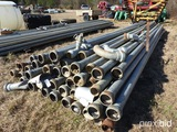 30' ALUMINUM IRRIGATION PIPE W/ SUCTION PIPE & FITTINGS