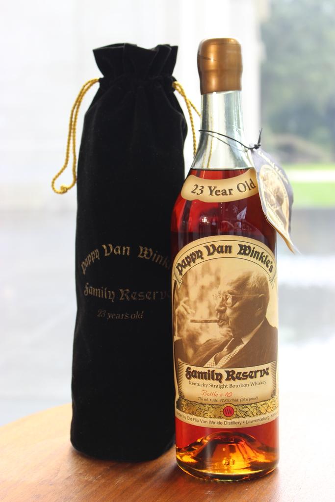 Number 10 Bottle of 23 - year Pappy Van Winkle
