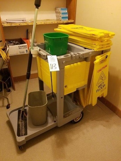 Rubbermaid Mop Cleaning Cart