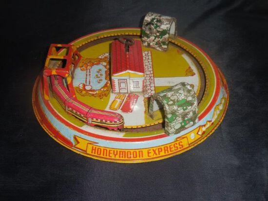 Honeymoon Express-Tin-litho win Marx