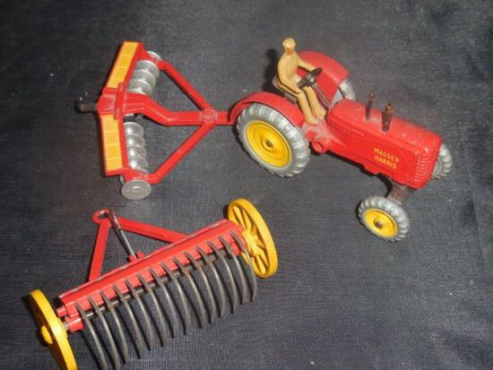 Dinky Toys- Tractor, Rake, Disc