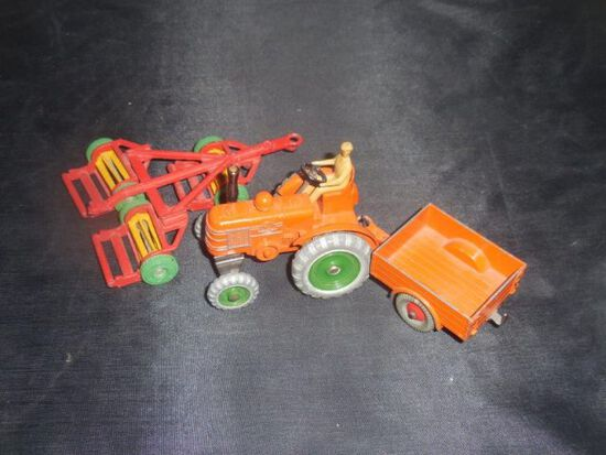 Dinky Toys- Tractor, Wagon, Disc