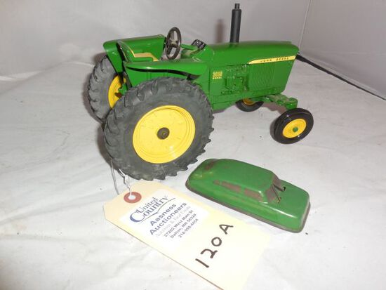 Ertl J.D. 3010 DSL Tractor(1:16th scale) & Classic Friction Car