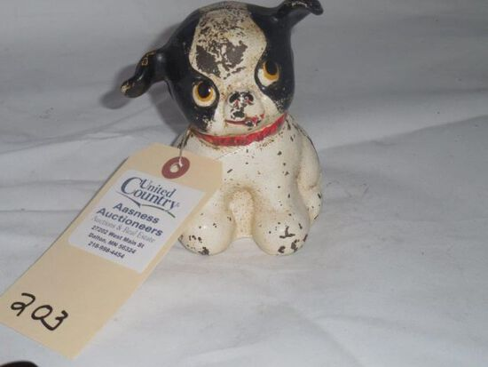Cast Iron Puppy Bank-Pat.1914