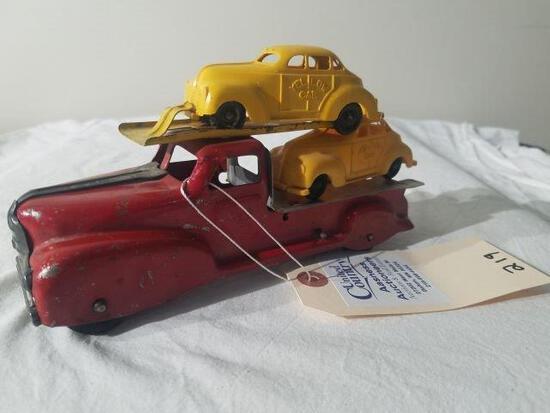 """City Cab"" Hauler Truck- Tin Wind Up"
