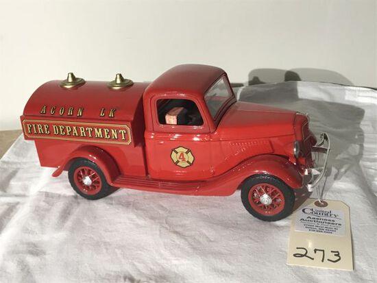 Acorn LK Fire Truck Sealed Jim Beam Decanter