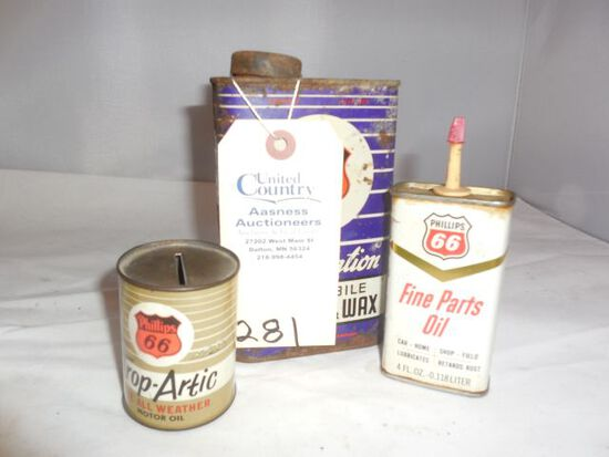 Vintage Phillips 66 Bank- Oil can, wax cleaners