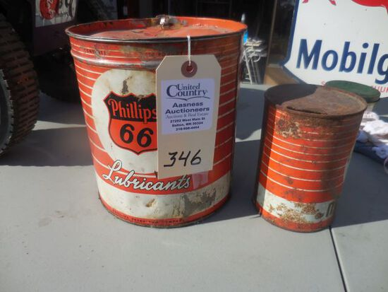 Classic Phillips 66 lubirican cans