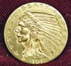 1912 Gold Indian Head 2 1/2 Dollar U.S. Coin