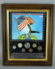 """Framed """"Obsolete Coins"""" of Yesteryear"""