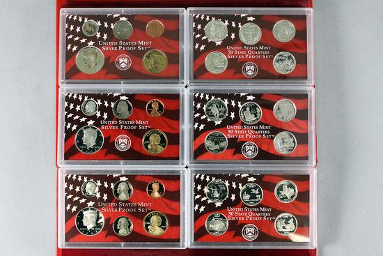 3 US Mint Silver Proof Sets; 2000,2003,2004