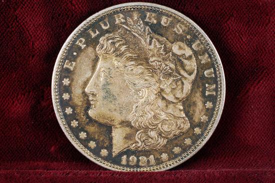 1921-P Morgan Silver Dollar