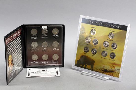 Westward Series Nickels (2004,2005) & 100 Years of Nickels Commemorative Set