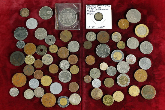 Small Bag of Foreign Coins (Bag B)