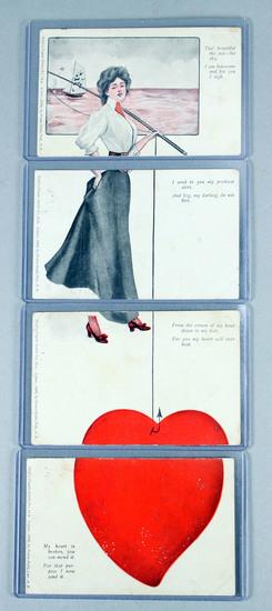 """Puzzle - Installment"" Valentine Post Card Series, Ca. 1906"