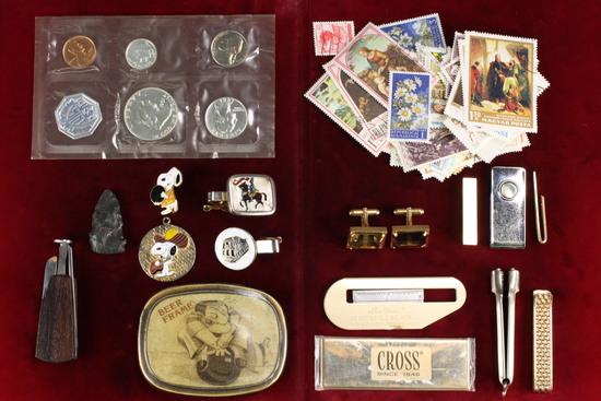 1961 Mint P.C. Set, Stamps, Tie Clips & More