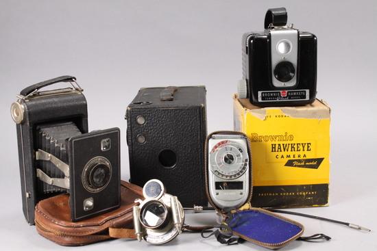 Vintage Cameras, Lens, Light Meter