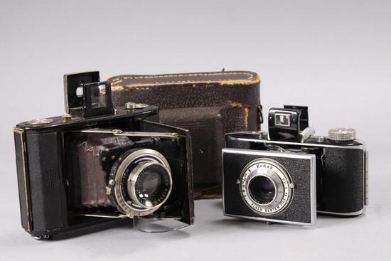 Showa Kogaku Folding Camera & Kodak Camera
