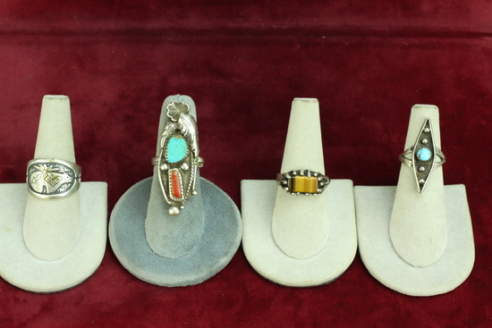 Southwest - Native American Style Silver  Rings