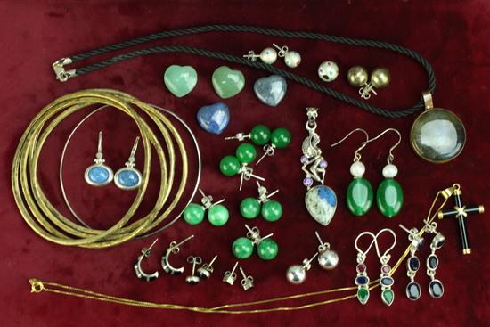 Polished Stones, Costume Jewelry, Earrings