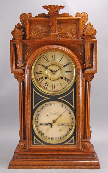 Waterbury Calendar No. 43 Shelf Clock, 8 Day, Ca. 1912