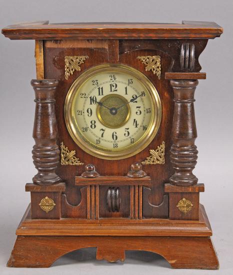 Antique Table Clock w/ Music Box