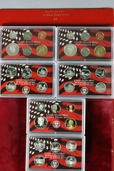 3 US Mint Silver Proof Sets; 2004,2005,2006