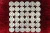36 Washington Silver Quarters; various dates/mints