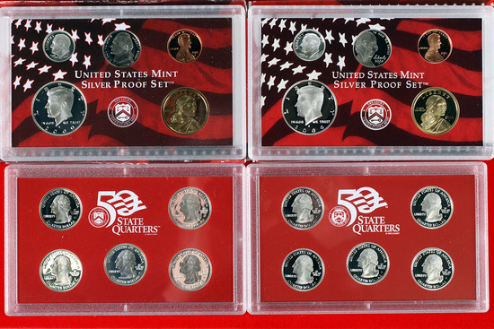 2 US Mint Silver Proof Sets; 2000,2006