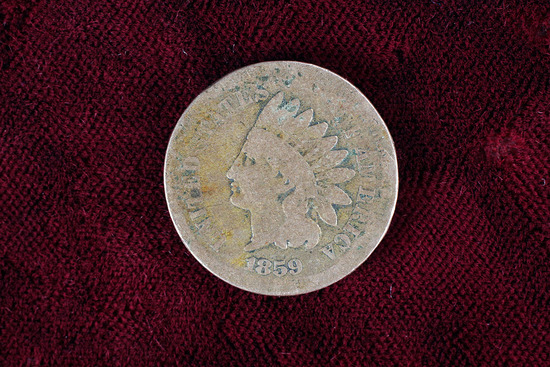 1859 Copper-nickel Indian Head Cent