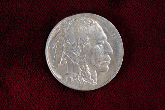 1913 Type 1 Buffalo Nickel, gorgeous full horn