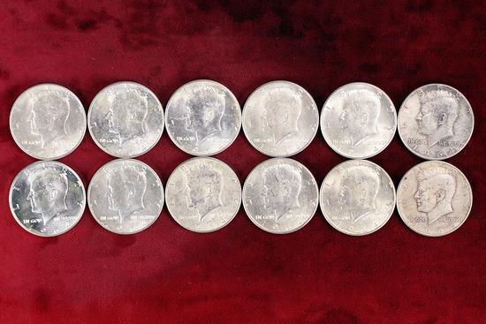12 - 1964 Kennedy 90% Silver Half Dollars