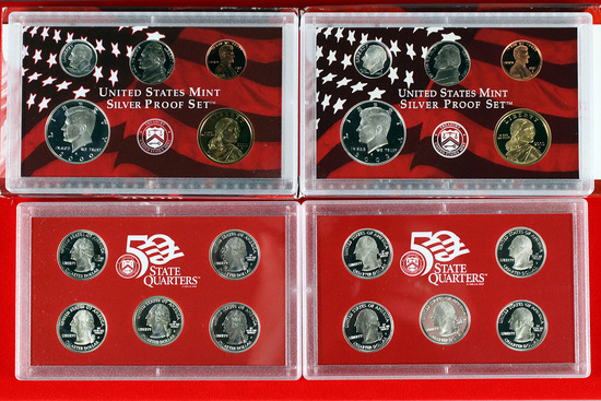 2 US Mint Silver Proof Sets; 2000,2003