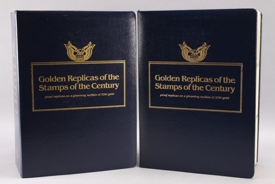 22k Gold Replicas of the Stamps of the Century