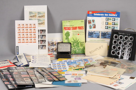 Large Assortment Stamps & More