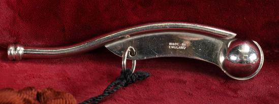 Boatswain Whistle w/ Velvet Bag, England