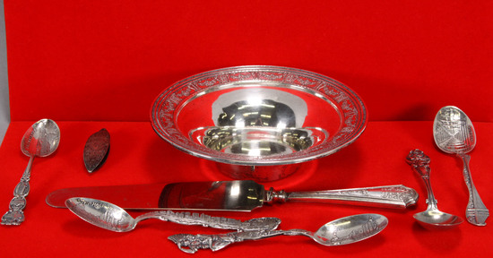 Sterling Silver Bowl & Collector Spoons & More