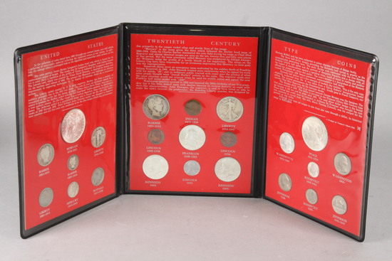 20th Century U.S. Type Coin Set in Display Album