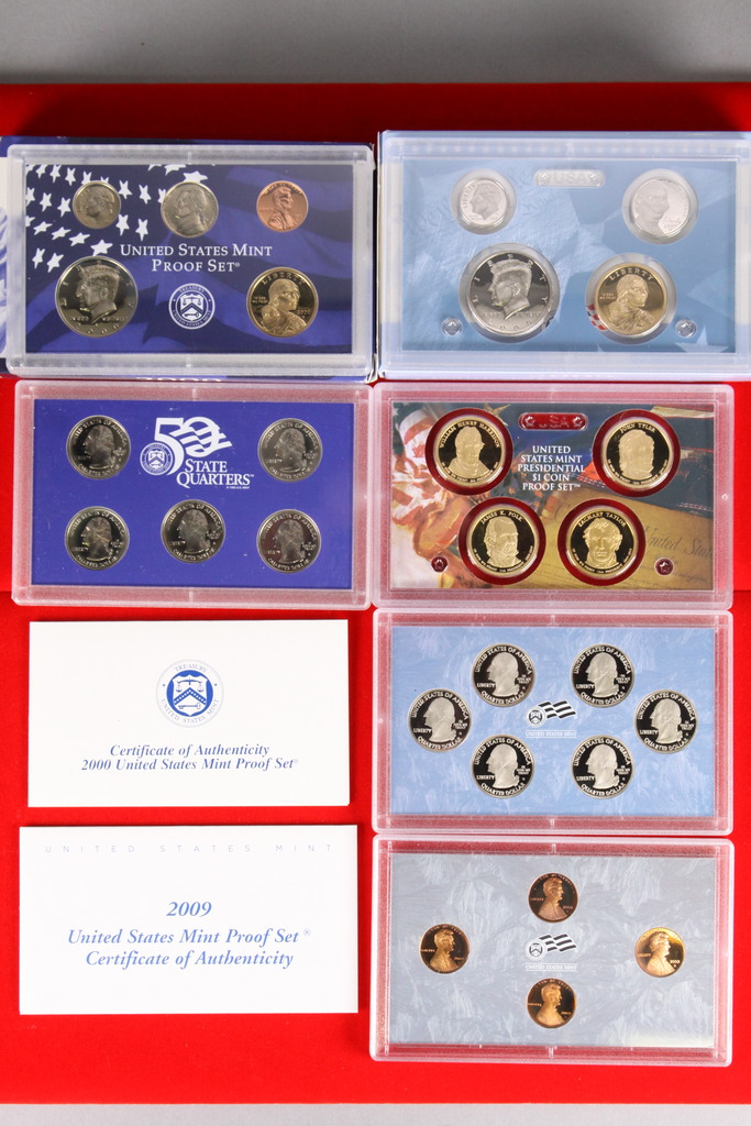 2 U.S. Mint Proof Sets; 2000,2009