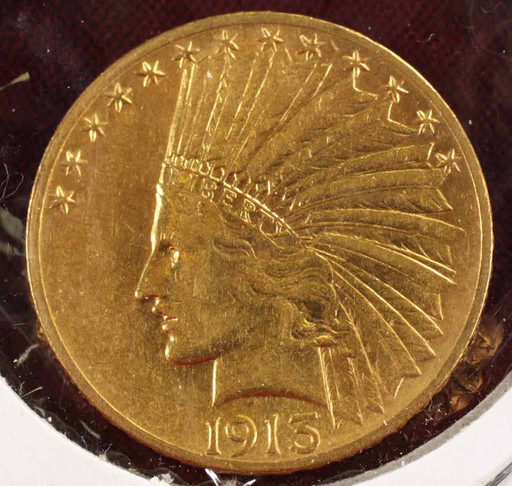 1913-P $10 Indian Gold Eagle