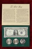 The Silver Story Coin Set; 1882-O Morgan,1922-P Peace