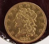 1836 $5 Gold Classic Head Half Eagle