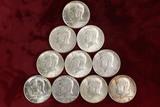 6 1964 Kennedy (90%) Silver Half Dollars, 1965,2-1966,1969 (40%) Silver half dollars