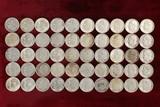 50 Roosevelt Silver Dimes; various dates/mints