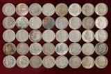 40 Roosevelt Silver Dimes; various dates/mints