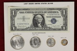 Last Year Issues U.S. Silver Set; includes 1923 Peace, 1964 Kennedy,